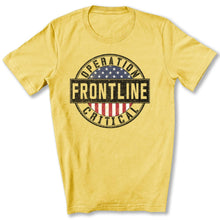 Load image into Gallery viewer, Operation Critical Frontline T-Shirt in Maize Yellow