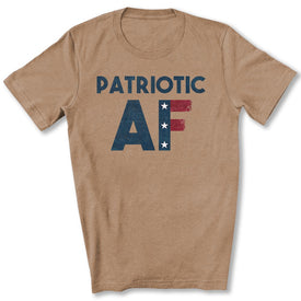 Patriotic AF T-Shirt in Heather Tan