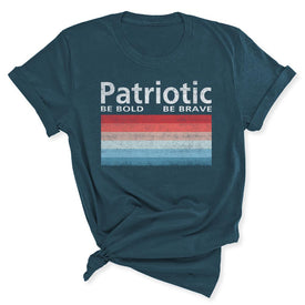Patriotic Polaroid Women's T-Shirt in Deep Teal