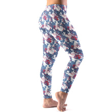 Load image into Gallery viewer, Patriotic Splash Women's Leggings Model Right Side