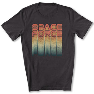 Rainbow Space Force T-Shirt in Dark Gray