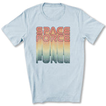 Load image into Gallery viewer, Rainbow Space Force T-Shirt in Light Blue