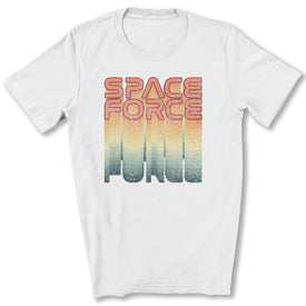 Rainbow Space Force T-Shirt in White