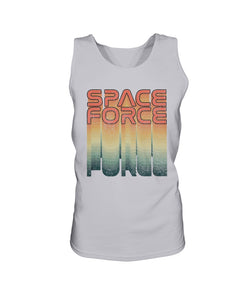 Rainbow Space Force Bro Tank in Ash