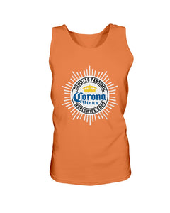 Worldwide Coronavirus Pandemic 2020 Bro Tank in Orange