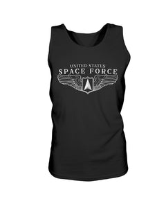 Space Force Wings Bro Tank in Black
