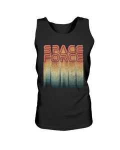 Rainbow Space Force Bro Tank in Black
