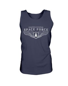 Space Force Wings Bro Tank in Navy