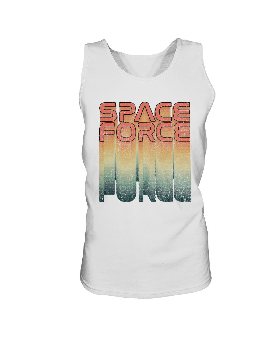 Rainbow Space Force Bro Tank in White