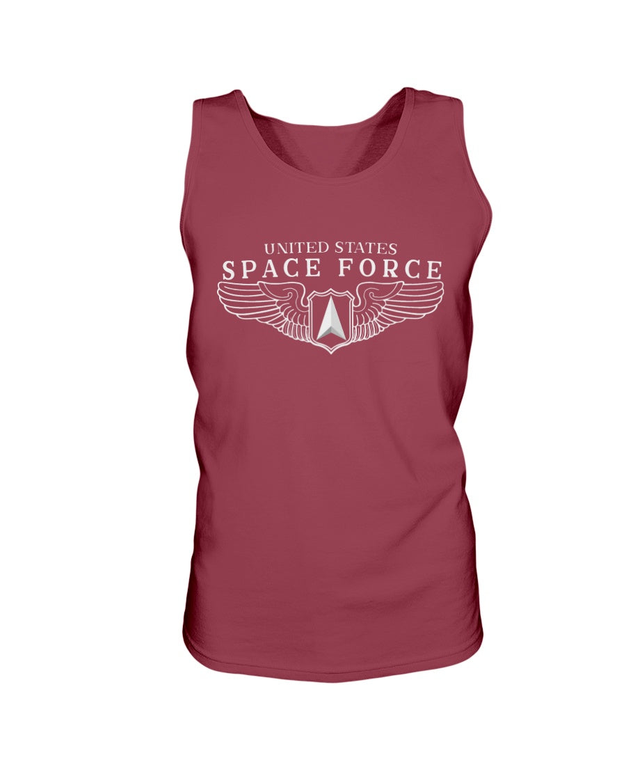 Space Force Wings Bro Tank in Cardinal Red