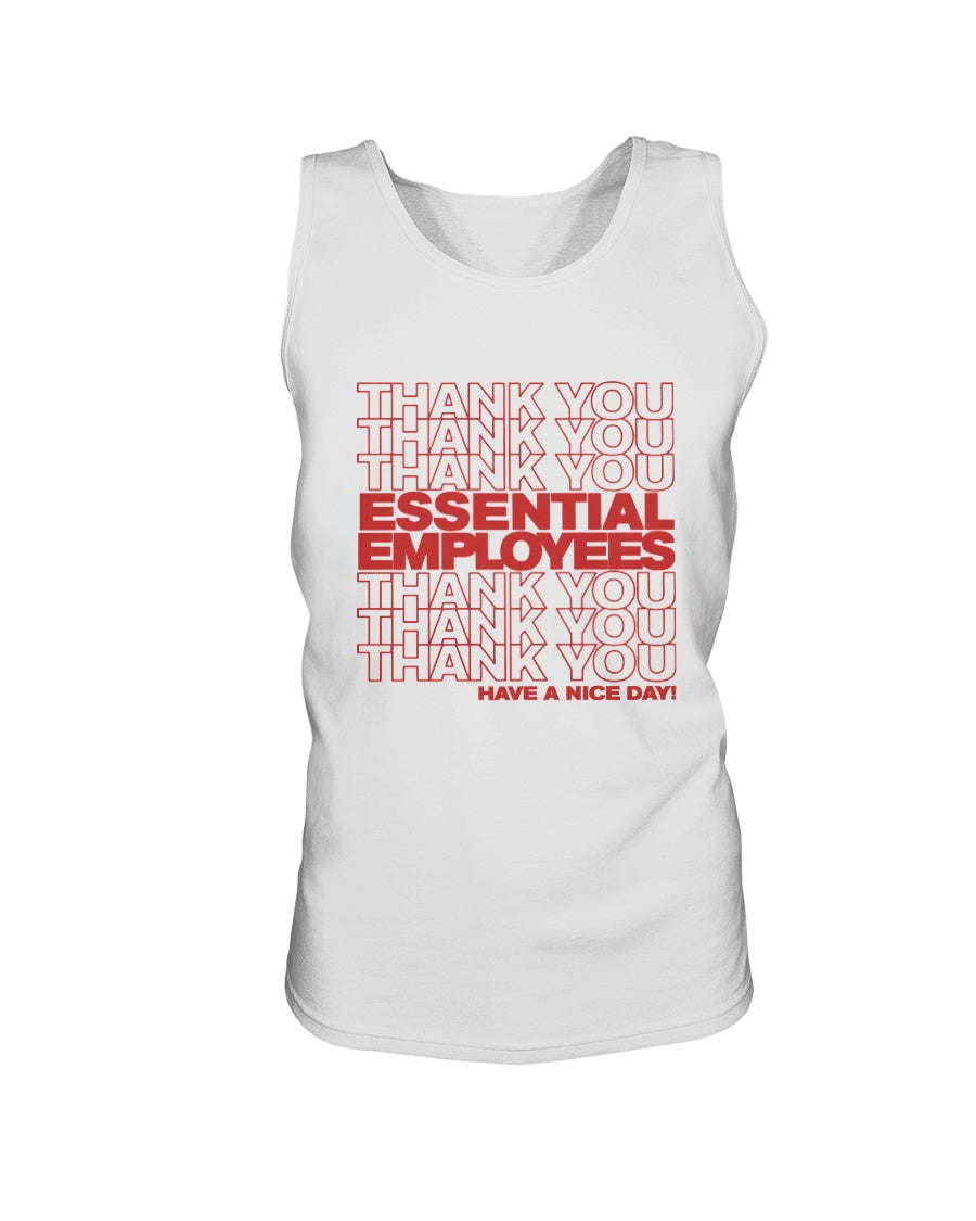 Thank You Essential Employees Bro Tank in White