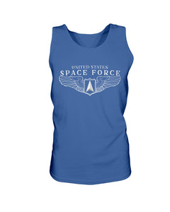 Space Force Wings Bro Tank in Royal Blue