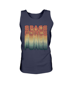Rainbow Space Force Bro Tank in Navy