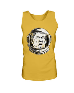 Trump Space Helmet Bro Tank in Gold