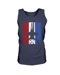 Red White and Blue F-18 Hornet Bro Tank in Navy