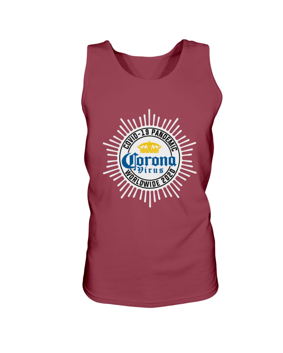 Worldwide Coronavirus Pandemic 2020 Bro Tank in Cardinal Red