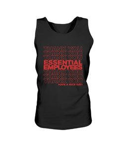 Thank You Essential Employees Bro Tank in Black