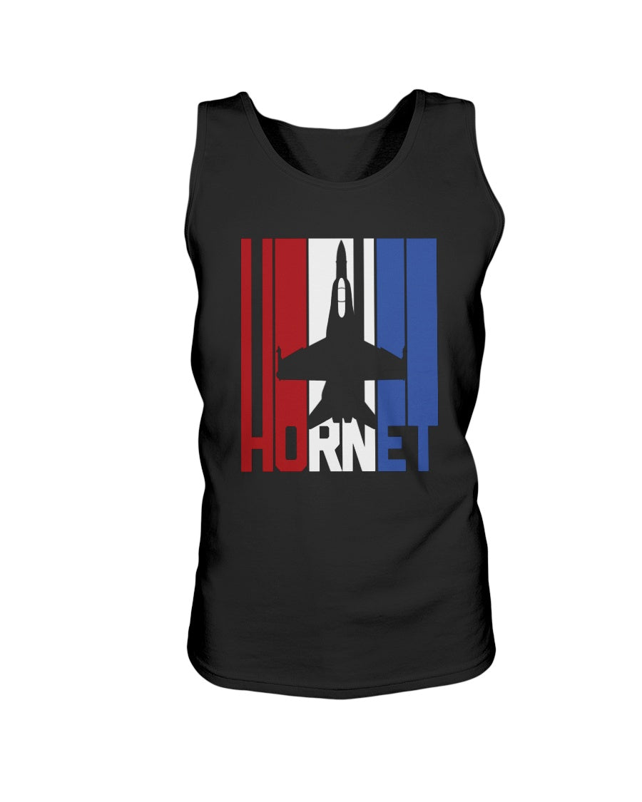 Red White and Blue F-18 Hornet Bro Tank in Black