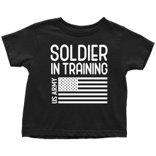 Load image into Gallery viewer, US Army Soldier in Training T-Shirt Combo Black Soldier in Training Toddler Shirt