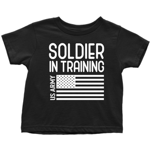 US Army Soldier in Training T-Shirt Combo Black Soldier in Training Toddler Shirt