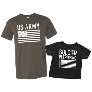 US Army Soldier in Training T-Shirt Combo