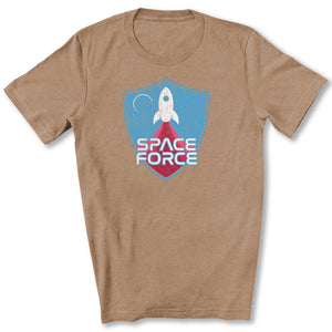Space Force Blast Off T-Shirt in Heather Tan