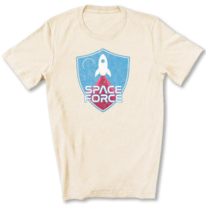 Space Force Blast Off T-Shirt in Soft Cream