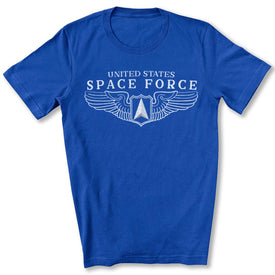 Space Force Wings T-Shirt in True Royal