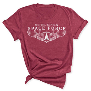 Space Force Wings Women's T-Shirt in Heather Raspberry
