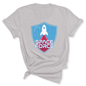 Space Force Blast Off Women's T-Shirt in Silver