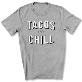 Tacos and Chill T-Shirt in Athletic Heather