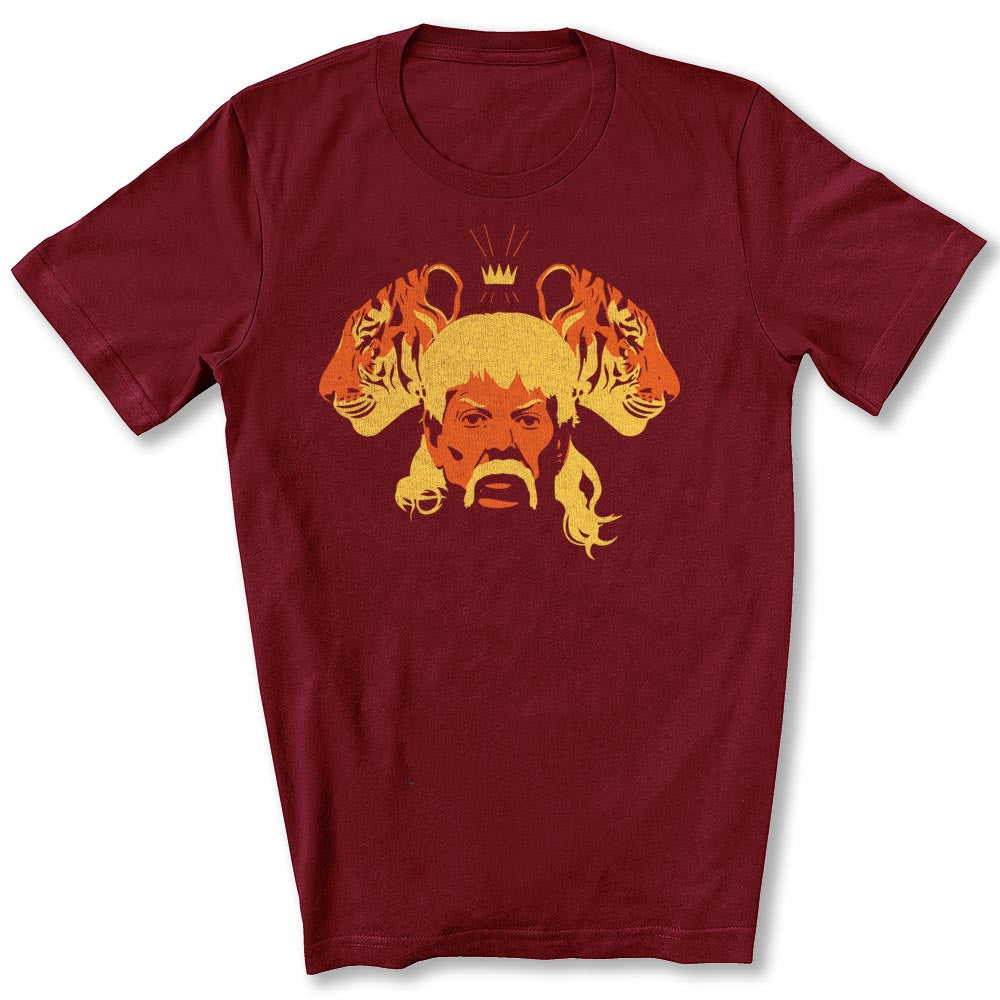 The Tiger King T-Shirt in Cardinal