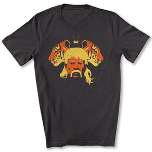 The Tiger King T-Shirt in Dark Gray