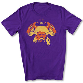 The Tiger King T-Shirt in Team Purple
