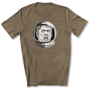 Trump Space Helmet T-Shirt in Heather Olive