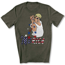 Load image into Gallery viewer, Trump Bae Merica T-Shirt in Heather Military Green
