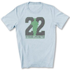 Twenty-Two Lives Matter T-Shirt in Light Blue
