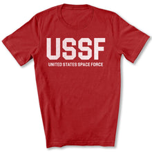 Load image into Gallery viewer, USSF Space Force T-Shirt in Canvas Red