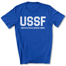 Load image into Gallery viewer, USSF Space Force T-Shirt in True Royal