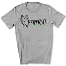 Load image into Gallery viewer, Vertical Jigs and Lures Logo T-Shirt in Athletic Heather