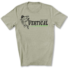Load image into Gallery viewer, Vertical Jigs and Lures Logo T-Shirt in Heather Stone