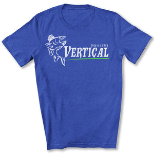 Vertical Jigs and Lures Logo T-Shirt in True Royal Blue