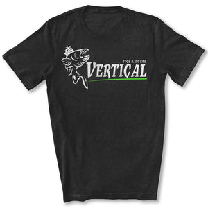 Vertical Jigs and Lures Logo T-Shirt in Black Heather