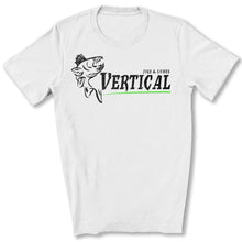 Load image into Gallery viewer, Vertical Jigs and Lures Logo T-Shirt in White
