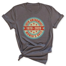 Load image into Gallery viewer, 100th Anniversary of Women's Suffrage Women's Grey T-Shirt