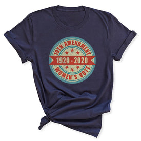 100th Anniversary of Women's Suffrage Women's Blue T-Shirt