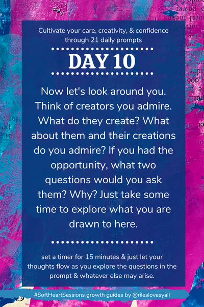 Daily journal prompts for creativity, day 10