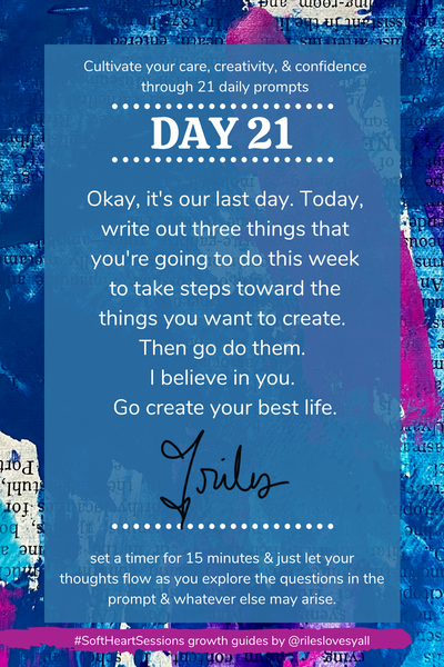 Daily journal prompts for caring creatives