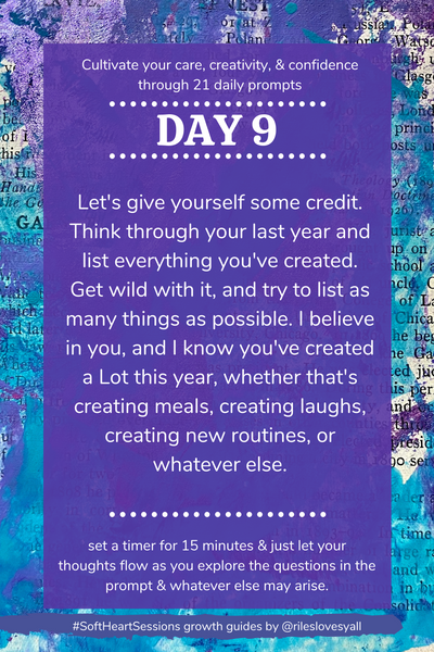 Journal prompts for creativity and self care
