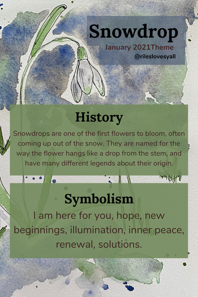 What do snowdrops symbolize? Hope, new beginnings, illumination, inner peace, renewal..